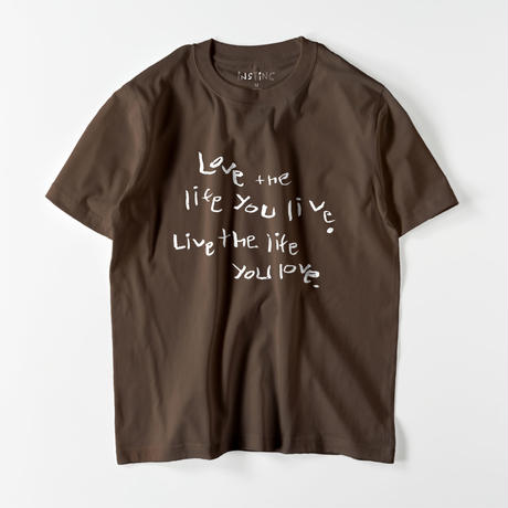 Love the life you live Tシャツ(11color  XS/S/M/L/XL/XXL)