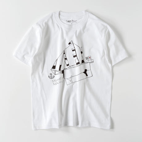 SATSUMA 昇平丸 Tシャツ(ホワイト XS/S/M/L/XL/XXL)