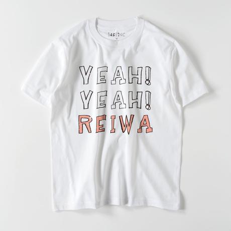 0=(令和)YEAH! YEAH! REIWA Tシャツ(ホワイト・グレー・ブラック・ネイビー  XS/S/M/L/XL/XXL)