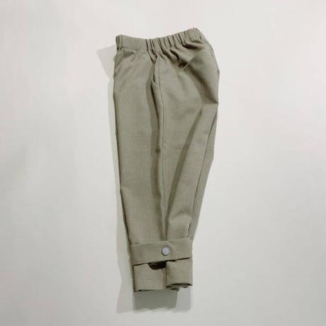 Polyester Canapa Hem Belt Pants / MOUN TEN.