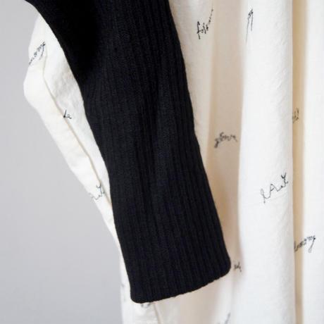 Embroidery Logo Sailor (pale beige x black/L) / folkmade
