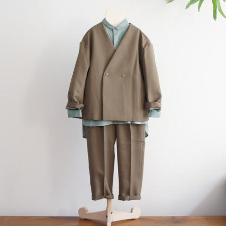 Stretch Twill Jacket (khaki) / MOUN TEN.