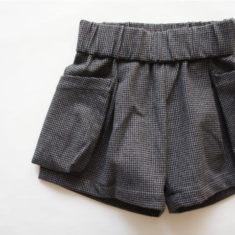 check warm shorts (charcoal/125.140) / MOUN TEN.