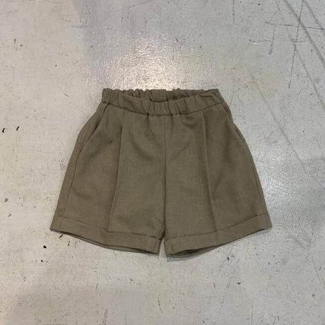 Polyester Canapa 1Tuck Shorts / MOUN TEN.