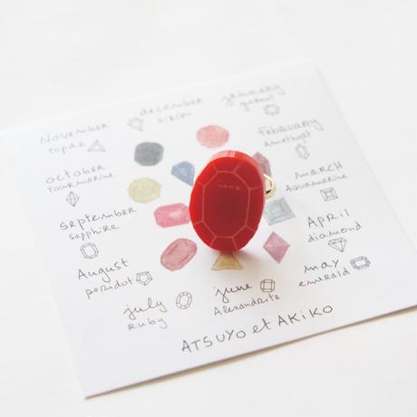 Birth Stone Ring / ATSUYO et AKIKO