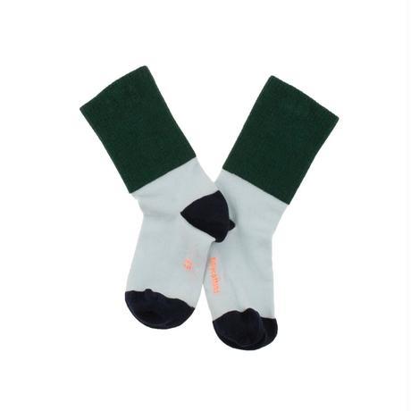 rib medium socks ( dark green x light blue ) / tinycottons