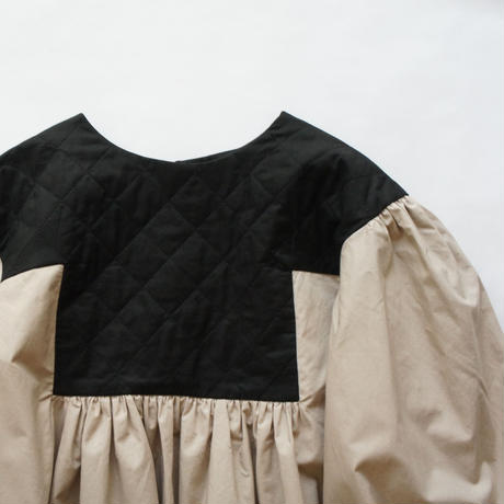 Quilt Gather Dress ( L ) / folkmade