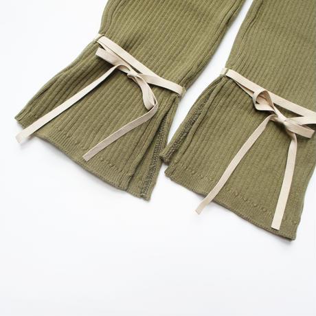 Knit Rib Leggings (sand beige/khaki) / folkmade