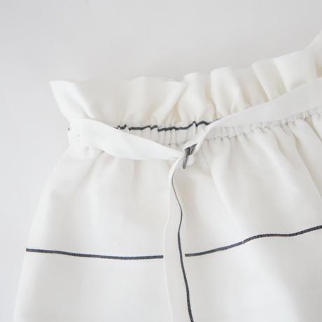 TONIA skirt (white stripe) / ANJA SCHWERBROCK