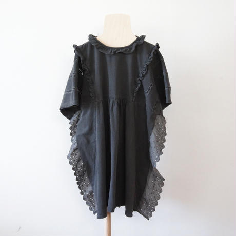 Fairy Lace Dress ( black  / S.M.L ) / folkmade