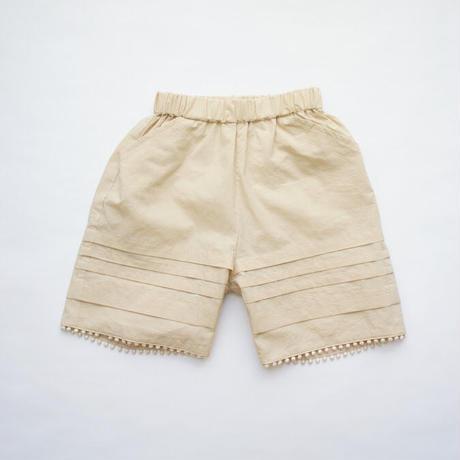Tuck Short Pants ( beige / L ) / folkmade