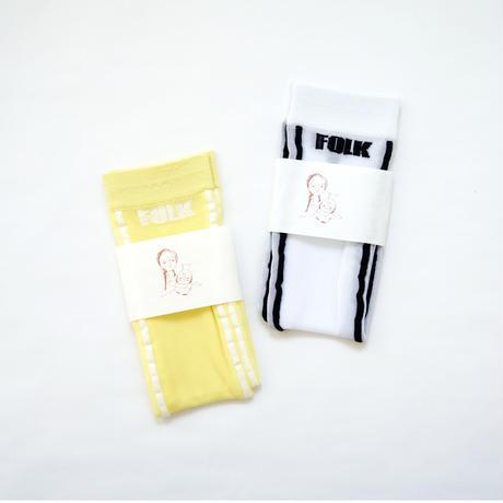 Soft Touch Logo Socks / folkmade
