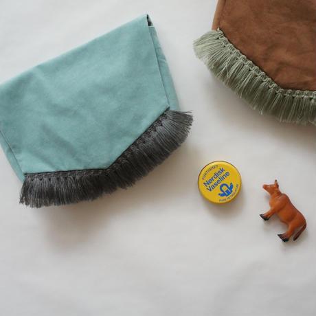 Diaper pouch ( dull blue ) // in the park original