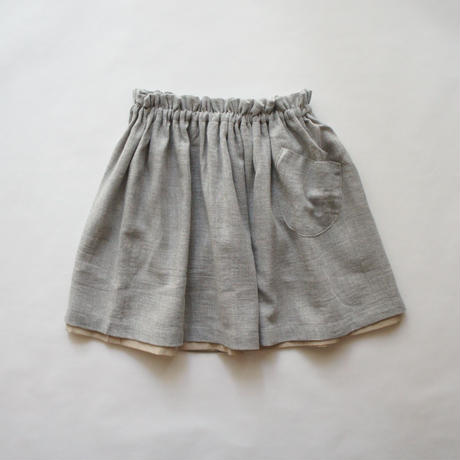TONIA skirt + pocket (gray marl) / treehouse