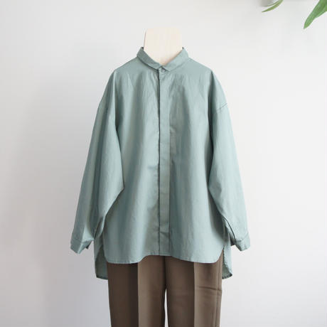 80/1 Washer Big Shirts (ash green) / MOUN TEN.