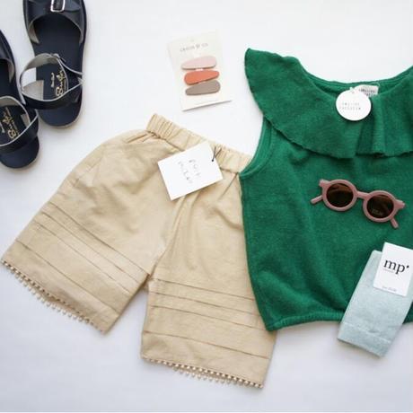 Tuck Short Pants ( beige / S,M ) / folkmade