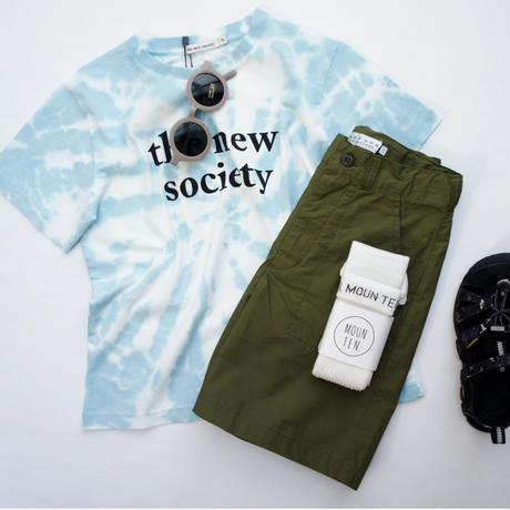 TNS Tee Deep Blue Tie Dye / the new society