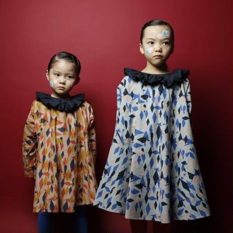 Circus print flannel dress //  folkmade
