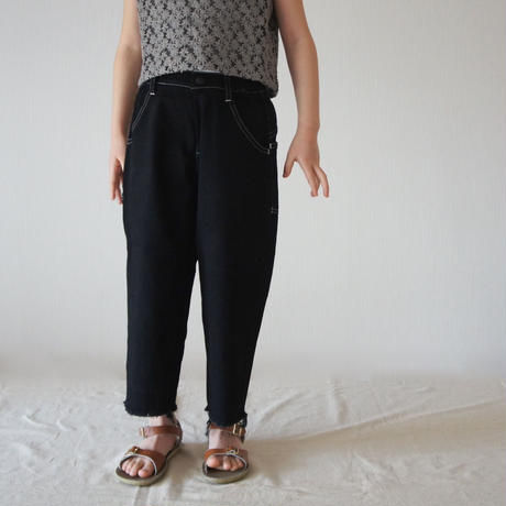Wide Cropped denim (black/125.140) / MOUN TEN.
