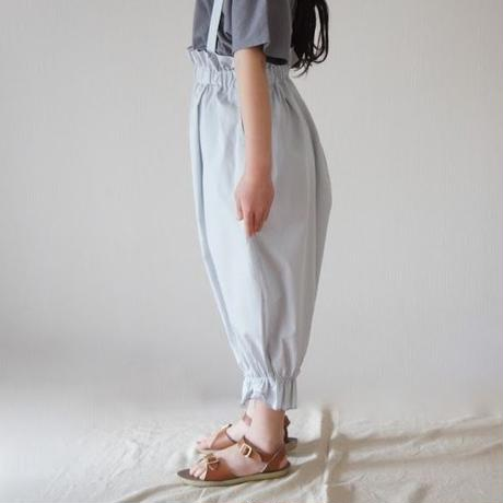Long pants with suspenders / folkmade