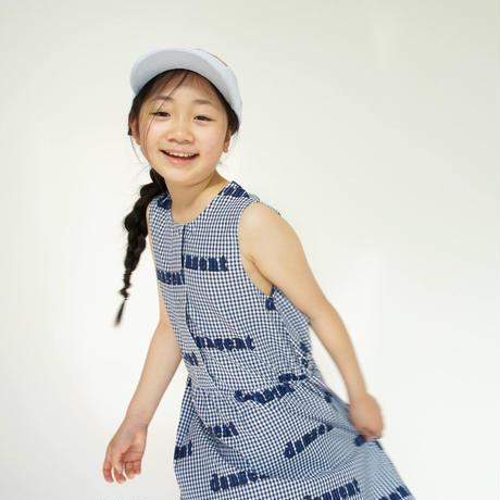 Woven Desert Dress (blue gingham) /  wynken