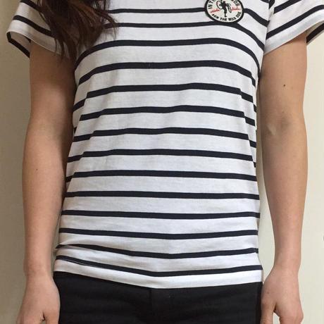 パッチ付きボーダーTシャツ
