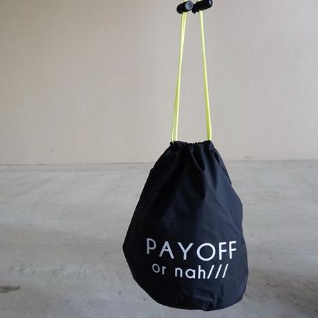 drawstring bag black