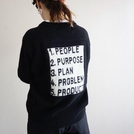 予約終了【先行予約】thomas magpie logo knit PPPPP(2194725)