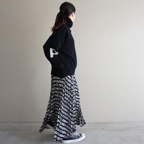 予約終了【先行予約】thomas magpie pleated long skirt alphabet print(2194612)