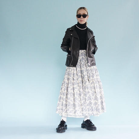 thomas magpie tiered skirt    (2212610)【受付終了:4月お届け】