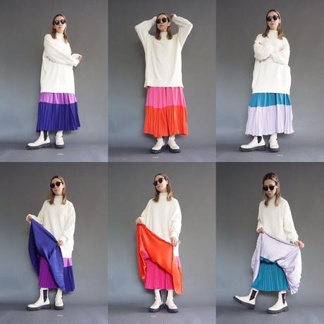 thomas magpie bicolor pleated skirt(2214614)【受付終了:11月お届け】