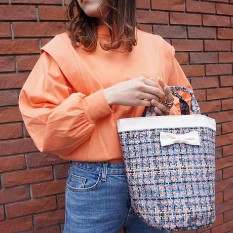 mini penelophia summer tweed softpink