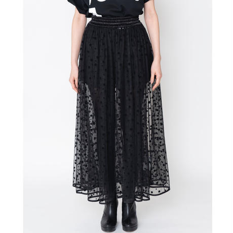 予約終了【再予約】thomas magpie long tulle skirt dots black (2192605)