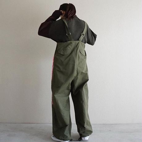 予約終了【先行予約】thomas magpie military salopette pants khaki(2194305)
