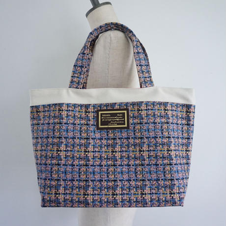 basic tote summer tweed soft pink