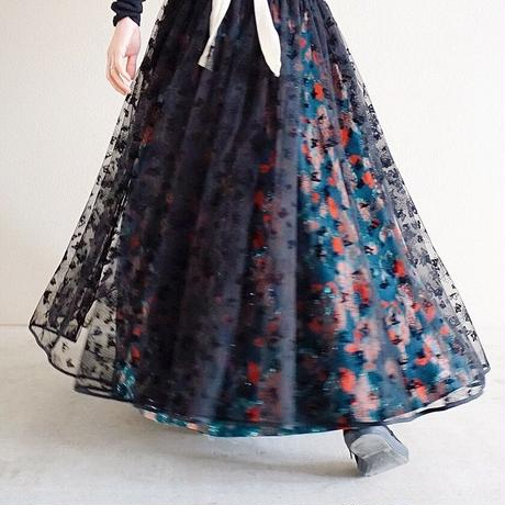 予約終了【先行予約】long tulle skirt butterfly (2193604)
