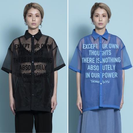 thomas magpie sheer organdie shirt  (2212109)【受付終了:5月お届け】