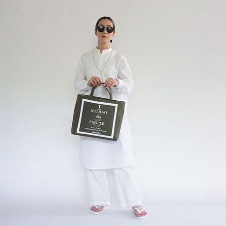 HOLIDAY RECORD BOX TOTE  khaki