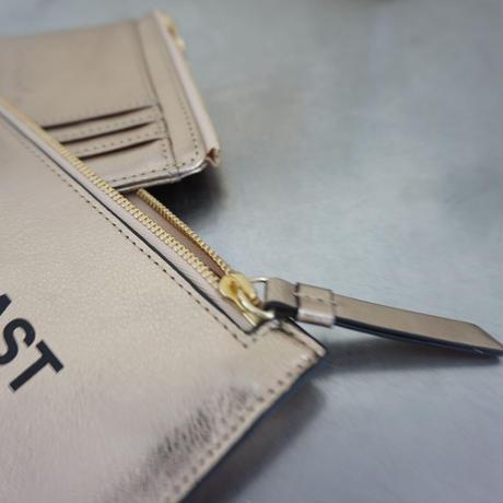 Twin long wallet champagne