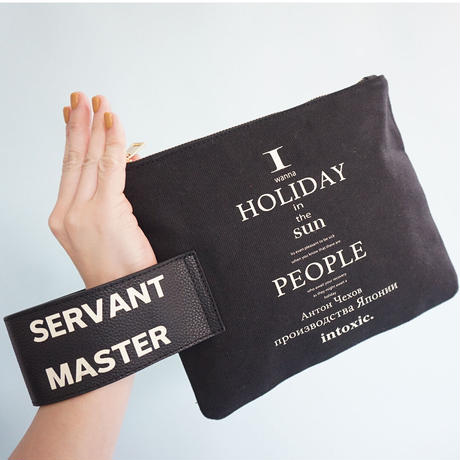 HOLIDAY RECORD CLUTCH black