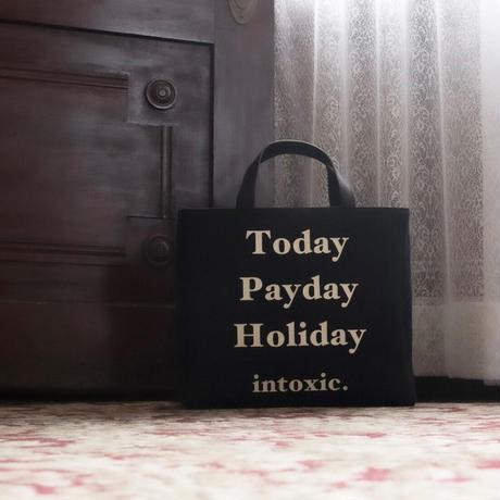 HOLIDAY RECORD BOX TOTE  black