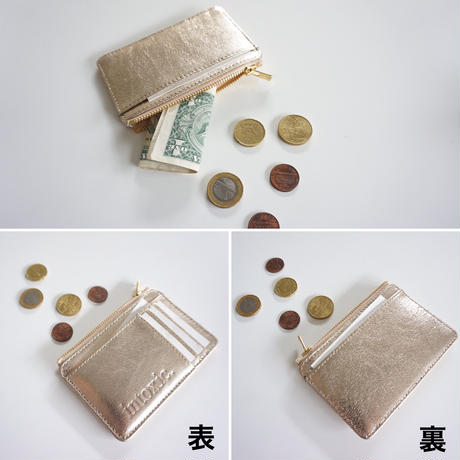 【受付終了】Twin long wallet champagne