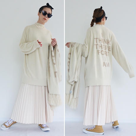 【受付終了】thomas magpie  long knit Ivory(2204718)