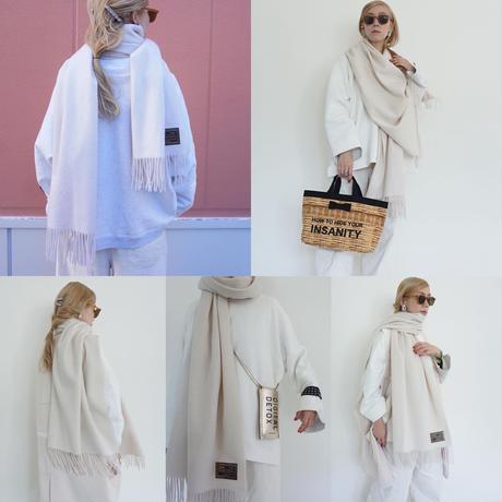 【オンラインストア限定】cashmere blend stole ivory