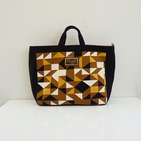 adjust strap tote grossy brown