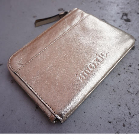 【受付終了】L-zipper multi case champagne