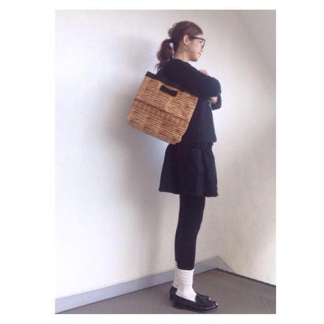 medium tote fake basket black