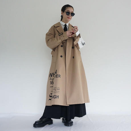 thomas magpie logo trench coat(2211206)【受付終了:3月お届け】