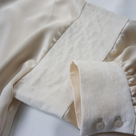 thomas magpie satin shirt (2213102)【受付終了:9月お届け】