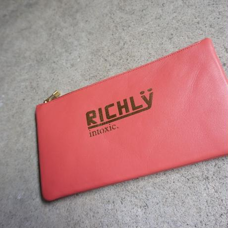 leather billfold -RICHLY-coral